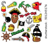 pirates badges  patches ... | Shutterstock .eps vector #501245176