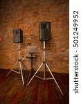 speakers  laptop   Shutterstock . vector #501249952
