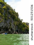 Small photo of touris paddle look nature at the sea .19-06-2015,Panga province ,Thailand
