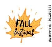 "inscription ""fall festival""... | Shutterstock .eps vector #501251998"