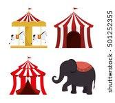set circus elements festival... | Shutterstock .eps vector #501252355
