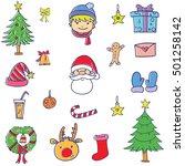 element christmas set doodle... | Shutterstock .eps vector #501258142