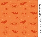 halloween vector background... | Shutterstock .eps vector #501259372