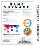 resume minimalist cv  template... | Shutterstock .eps vector #501259792