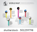 simple world map infographic... | Shutterstock .eps vector #501259798