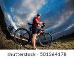 man in helmet and glasses stay...   Shutterstock . vector #501264178