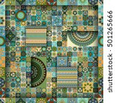 colorful vintage seamless... | Shutterstock .eps vector #501265666