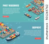 port warehouse and shipment... | Shutterstock .eps vector #501265762