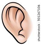 an illustration of a human ear...   Shutterstock .eps vector #501267106