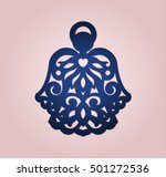 angel ornament for wood or... | Shutterstock .eps vector #501272536