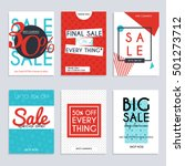 set media banners with discount ... | Shutterstock .eps vector #501273712