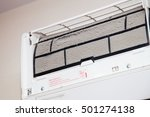 dust on dirty air conditioner...   Shutterstock . vector #501274138