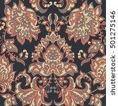baroque style floral wallpaper. ... | Shutterstock . vector #501275146