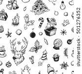 hand drawn winter pattern....   Shutterstock .eps vector #501276352