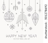 new year greeting card template ... | Shutterstock .eps vector #501278692