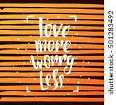 vector trendy lettering poster. ...   Shutterstock .eps vector #501283492