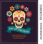 dea de los muertos. day of the... | Shutterstock .eps vector #501283852
