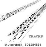 tire tracks background in black ...   Shutterstock .eps vector #501284896