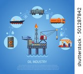 oil industry infographics with... | Shutterstock .eps vector #501287842