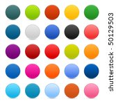 matted color round web buttons... | Shutterstock .eps vector #50129503