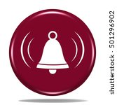 alarm icon. internet button.3d...   Shutterstock . vector #501296902