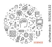 line web concept for science.... | Shutterstock . vector #501301132