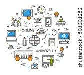 line concept for online... | Shutterstock . vector #501301252