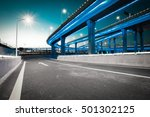 empty road floor with city... | Shutterstock . vector #501302125