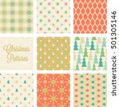 christmas seamless pattern in... | Shutterstock .eps vector #501305146