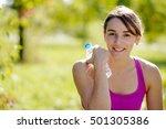beautiful athletic girl... | Shutterstock . vector #501305386