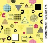 trendy geometric elements... | Shutterstock . vector #501305575