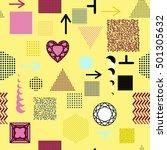 trendy geometric elements...   Shutterstock . vector #501305632