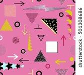 trendy geometric elements... | Shutterstock . vector #501308686