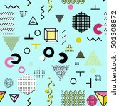 trendy geometric elements... | Shutterstock . vector #501308872