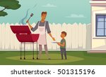 summer weekend barbecue on... | Shutterstock .eps vector #501315196
