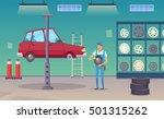 auto repair shop service worker ... | Shutterstock .eps vector #501315262
