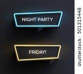 set of geometric neon vector... | Shutterstock .eps vector #501315448