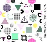 trendy geometric elements... | Shutterstock . vector #501317275