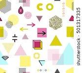 trendy geometric elements... | Shutterstock . vector #501317335