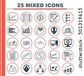 set of 25 universal editable... | Shutterstock .eps vector #501319615