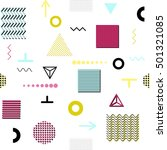 trendy geometric elements... | Shutterstock . vector #501321085