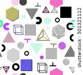 trendy geometric elements... | Shutterstock . vector #501321112