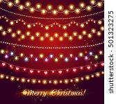 shining garlands. christmas...   Shutterstock .eps vector #501323275