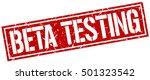 beta testing. grunge vintage... | Shutterstock .eps vector #501323542