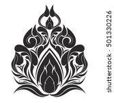 line thai art stripe design  ... | Shutterstock .eps vector #501330226