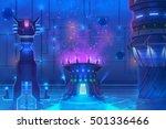 futuristic environment  inside...   Shutterstock . vector #501336466