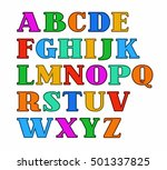 english alphabet  capital... | Shutterstock .eps vector #501337825