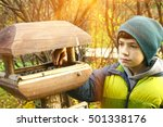 Preteen Boy Care Of Birds By...