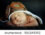sweet little baby dreaming of... | Shutterstock . vector #501345352