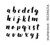 vector hand drawn alphabet.... | Shutterstock .eps vector #501346216